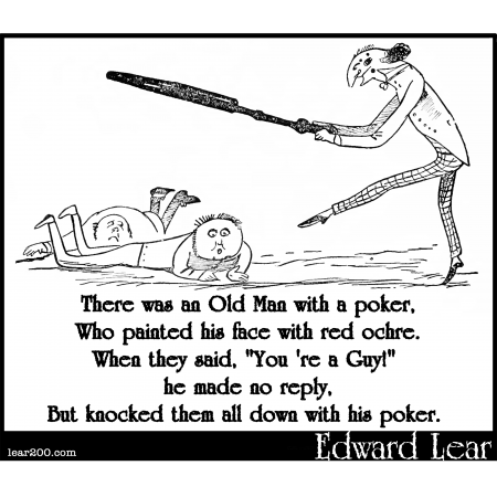 There was an Old Man with a poker