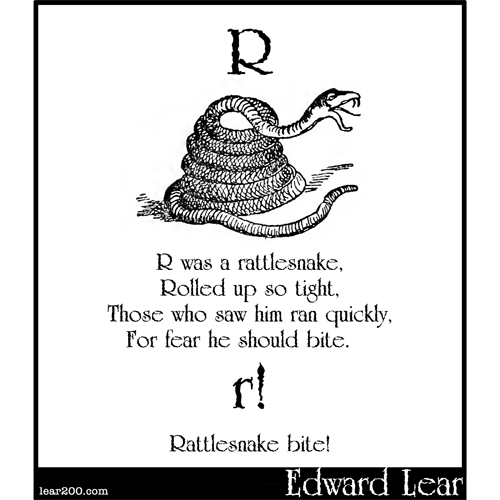R was a rattlesnake