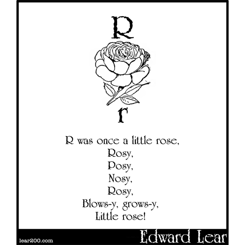 R was once a little rose