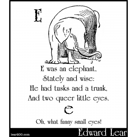 E was an elephant