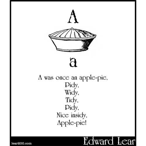 A was once an apple-pie