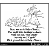 There was an old lady of France
